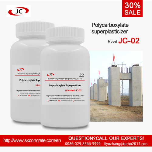 Jingcheng JC-02 shopping online polycarboxylate superplasticizer early thrength type use in concrete