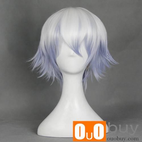Gintama Sexual Transfer Sakata Gintoki Mixed White and Purple Multipurpose Upturned Cosplay Wig