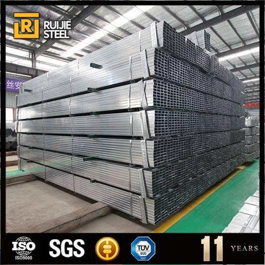 Pre galvanized ERW square steel pipe