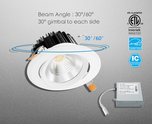 Commercial LED Gimbal COB Downlight