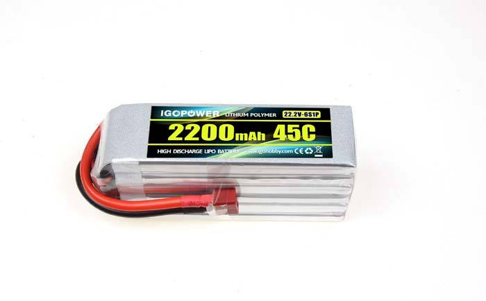 iGOPOWER LiPo Packs 22.2V 6S 2200mAh 45C