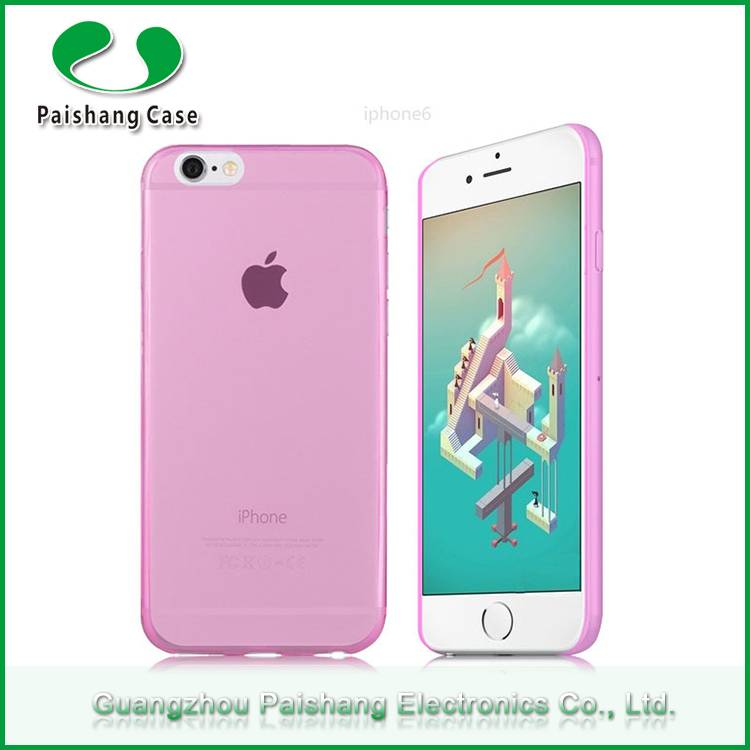 Fashion design touch screen transparent 4 colors ultra thin tpu mobile phone case for Apple iphone s