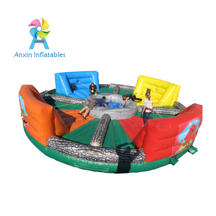 Inflatable hippo hungry game outdoor fighting for food, inflatable amusement park playground