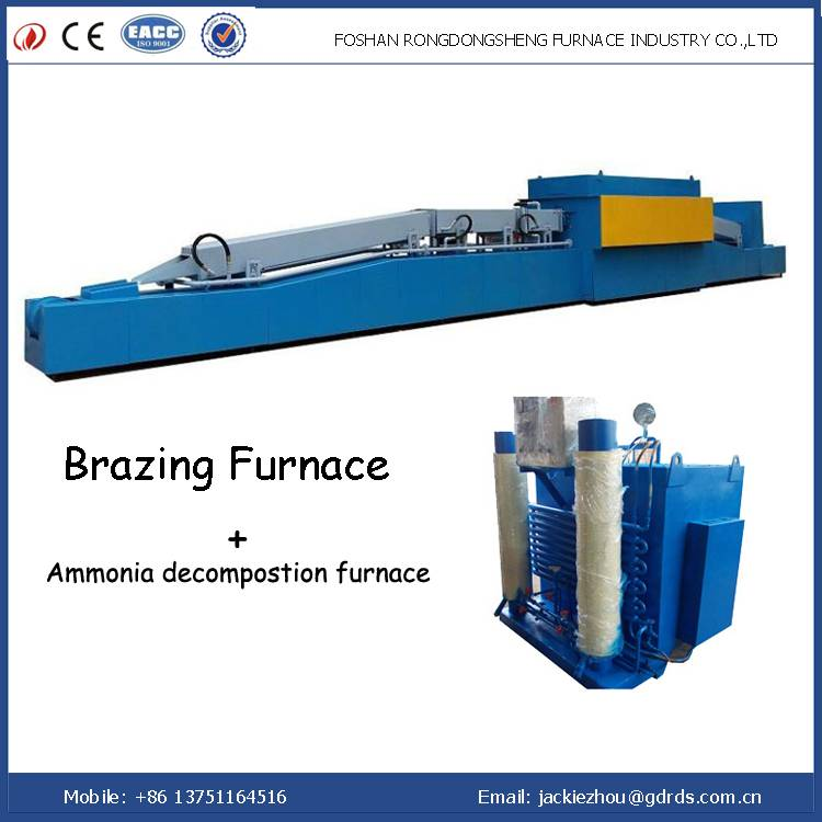 Continuous industrial electric high temperature copper brazing furnance