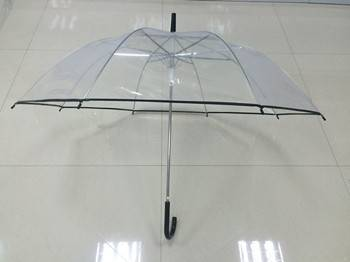 23 inch pvc canopy auto straight umbrella