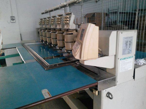 computer barudan  6heads high speed embroidery machine