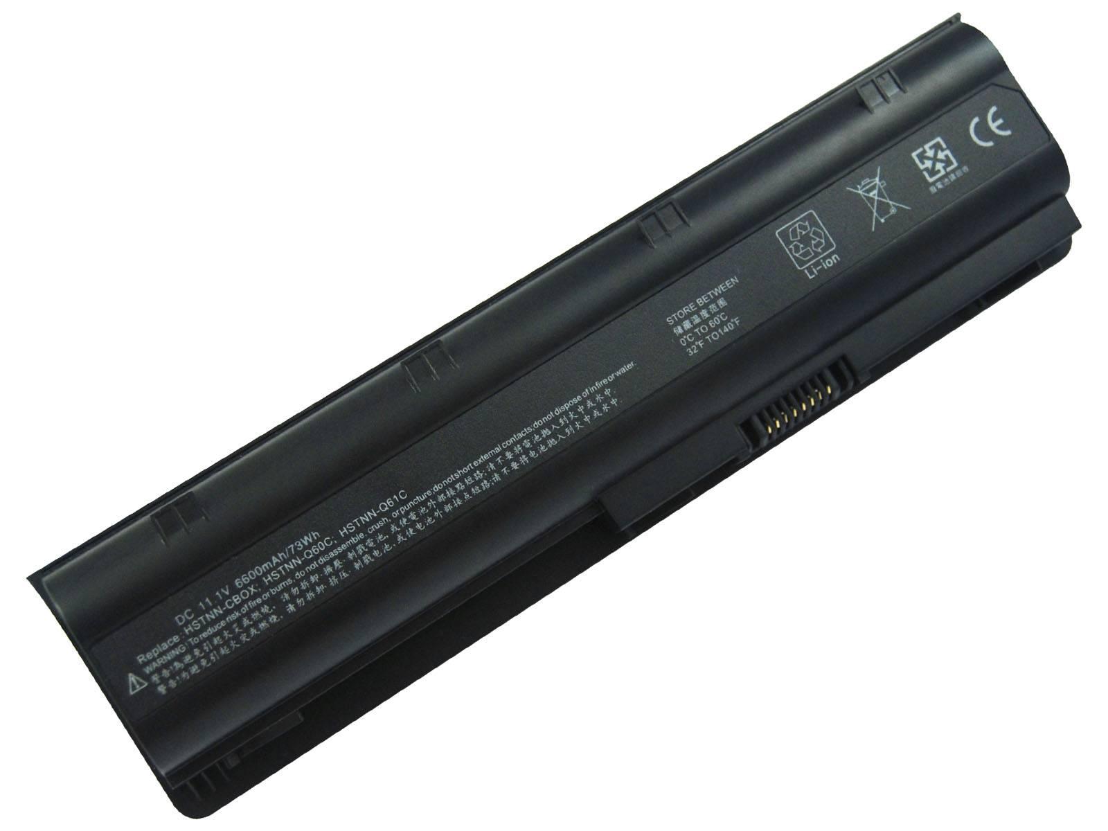 Good quality laptop battery replacement for HP/COMPAQ DM4 CQ42 CQ56 G62 CQ62 CQ72, 6 cells, 4,400mAh