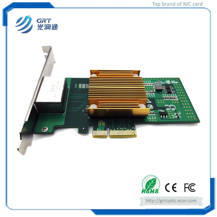 F902T PCIe 1G Gigabit 2-Port Copper RJ45 Intel I350 Chipset Fibre Optic Network Card