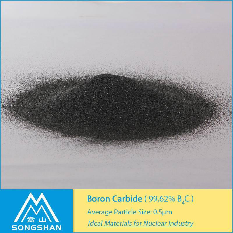 high B10 content boron carbide powder for nuclease use