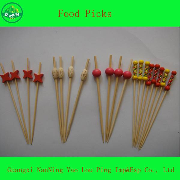 Customized Logo Food Cake Cocktail Picker Pin Stick Skewer Stirrer