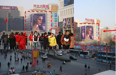 China Beijing available advertising locations for rent