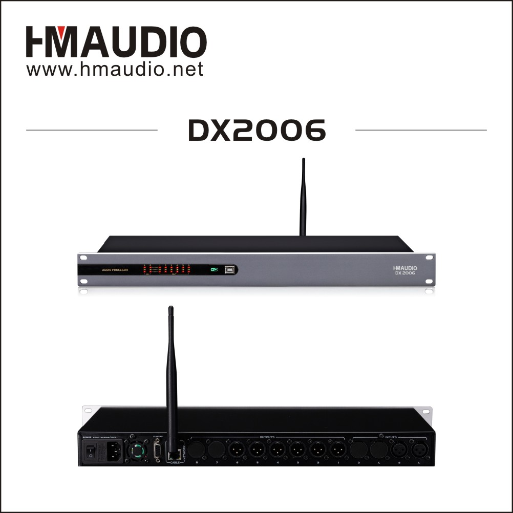 Performances use Digital loudspeaker management 2 in 6 out DX2006 with WiFi