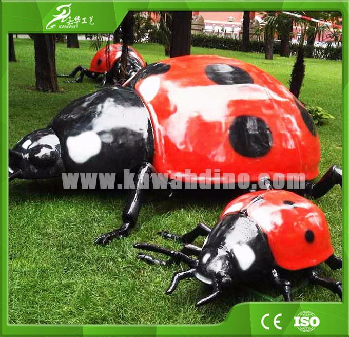 KAWAH ourdoor playground Animatronic Ladybug simulation insect model
