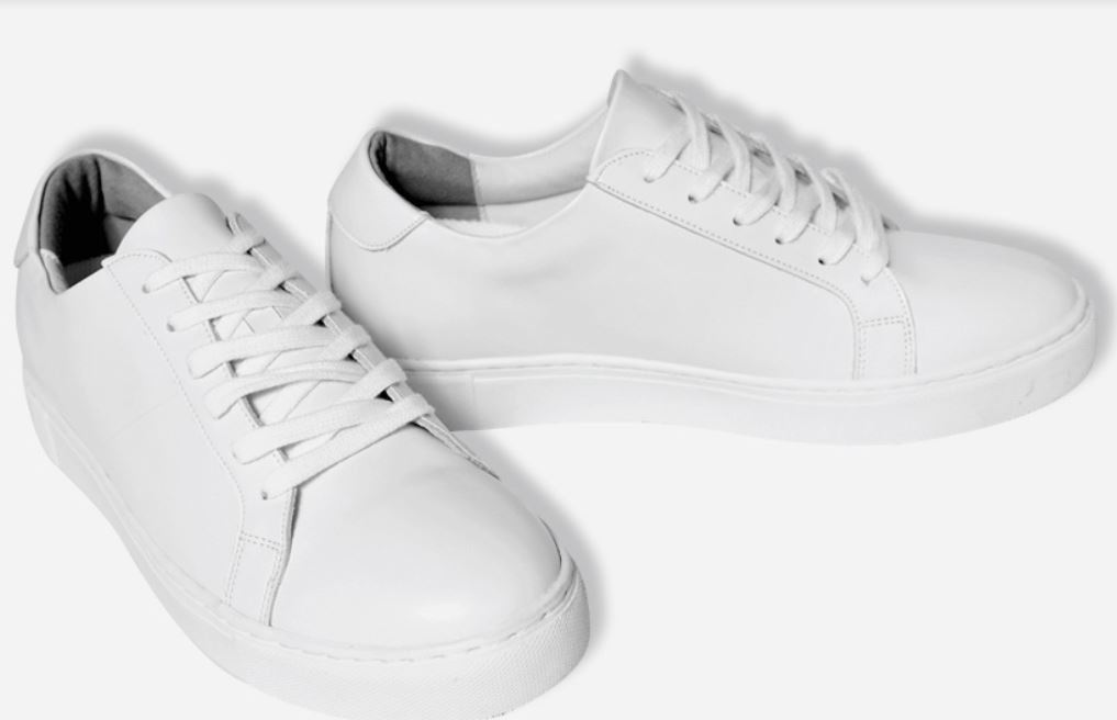4.5CM UNISEX WHITE LEATHER ELEVATOR SNEAKERS CL0017