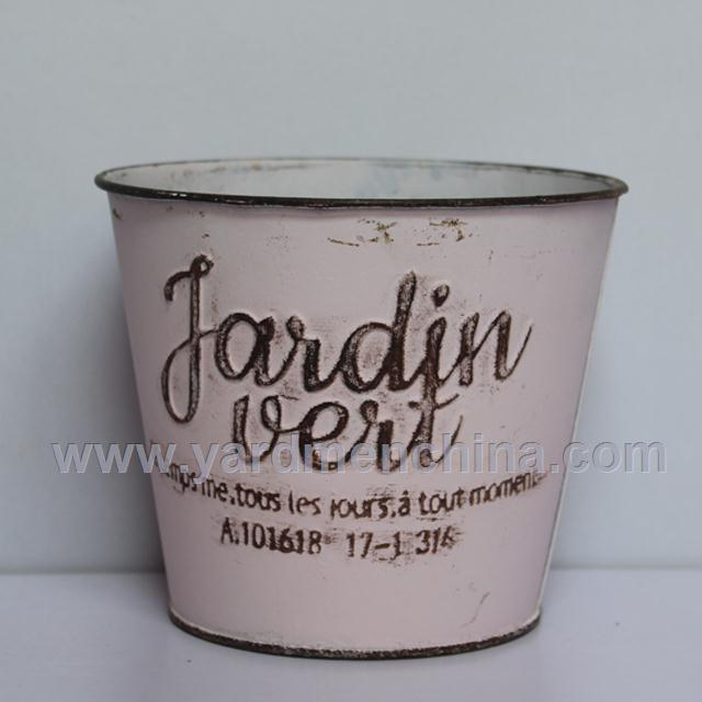 europe style metal flower plainter pot bucket