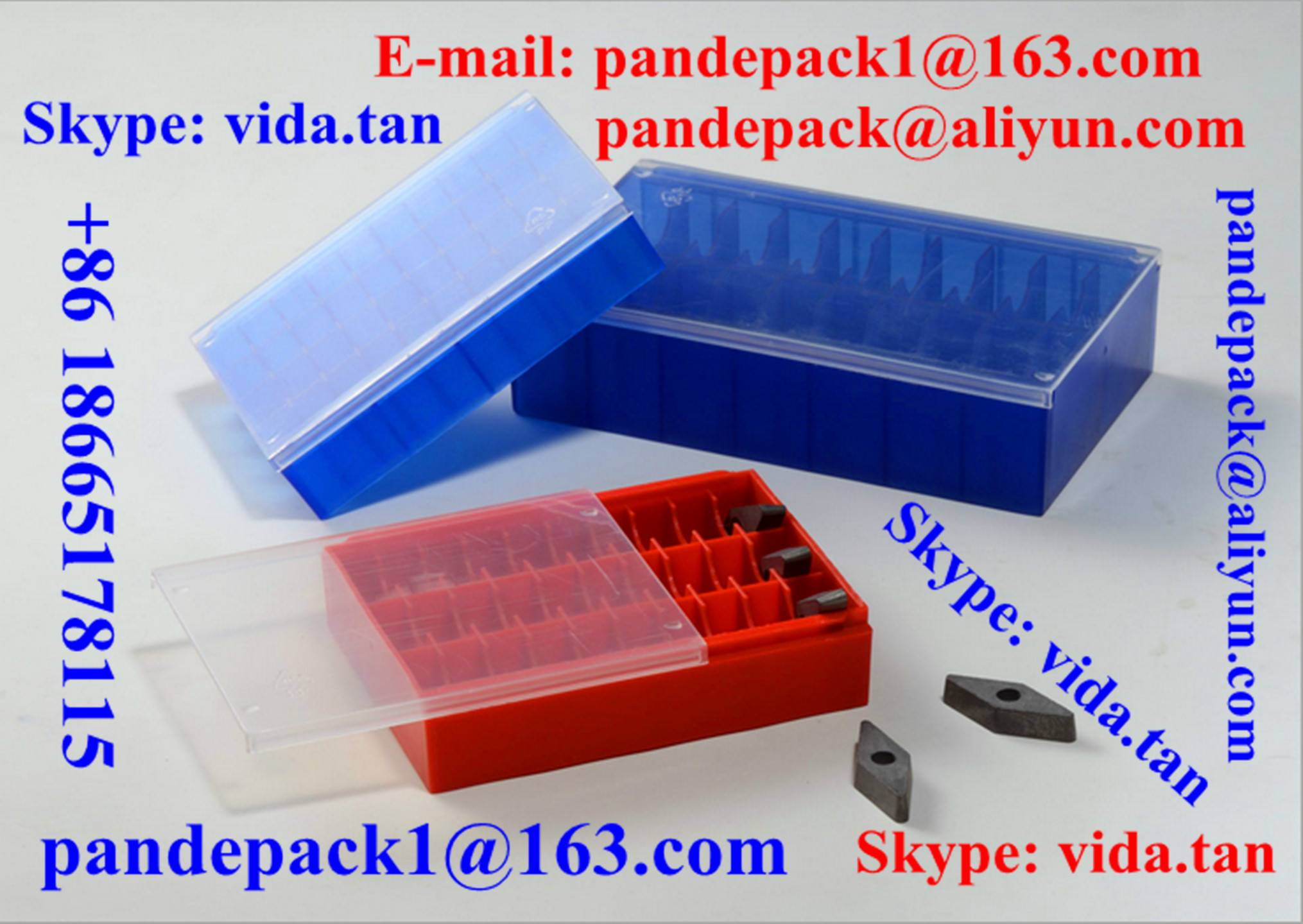 Sell Cemented Carbide Insert Plastic Box/Package/Cutting Tool Box/Package/Pack/Tool Pack/Box/Package