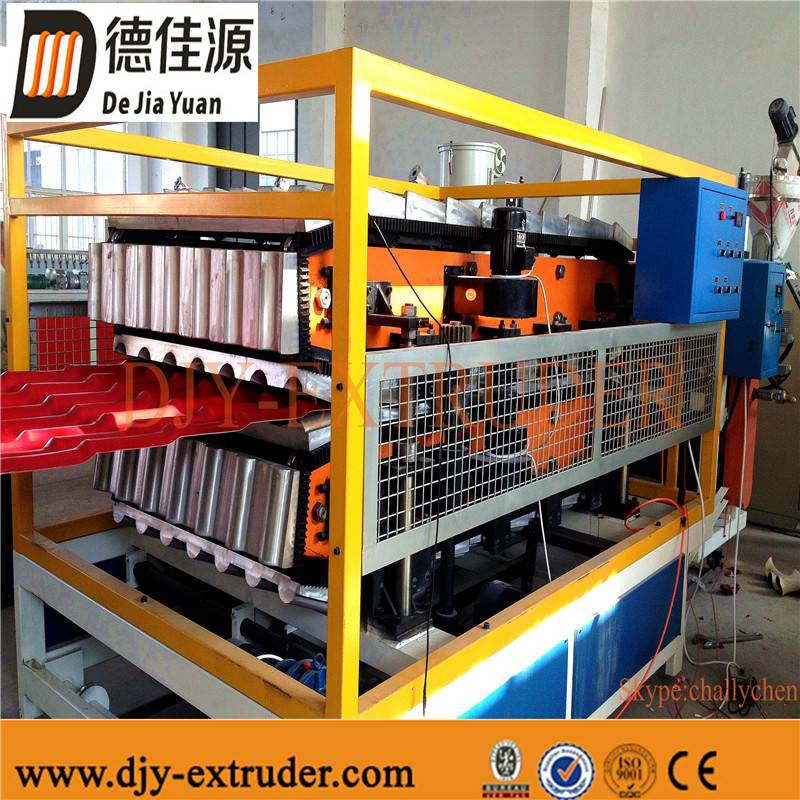 Plastic PVC waved tile extrusion line