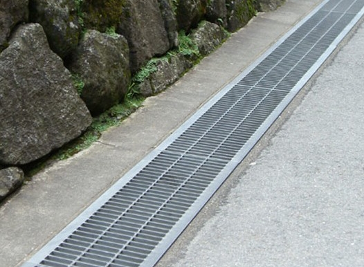 U type steel grating trench drainage cover
