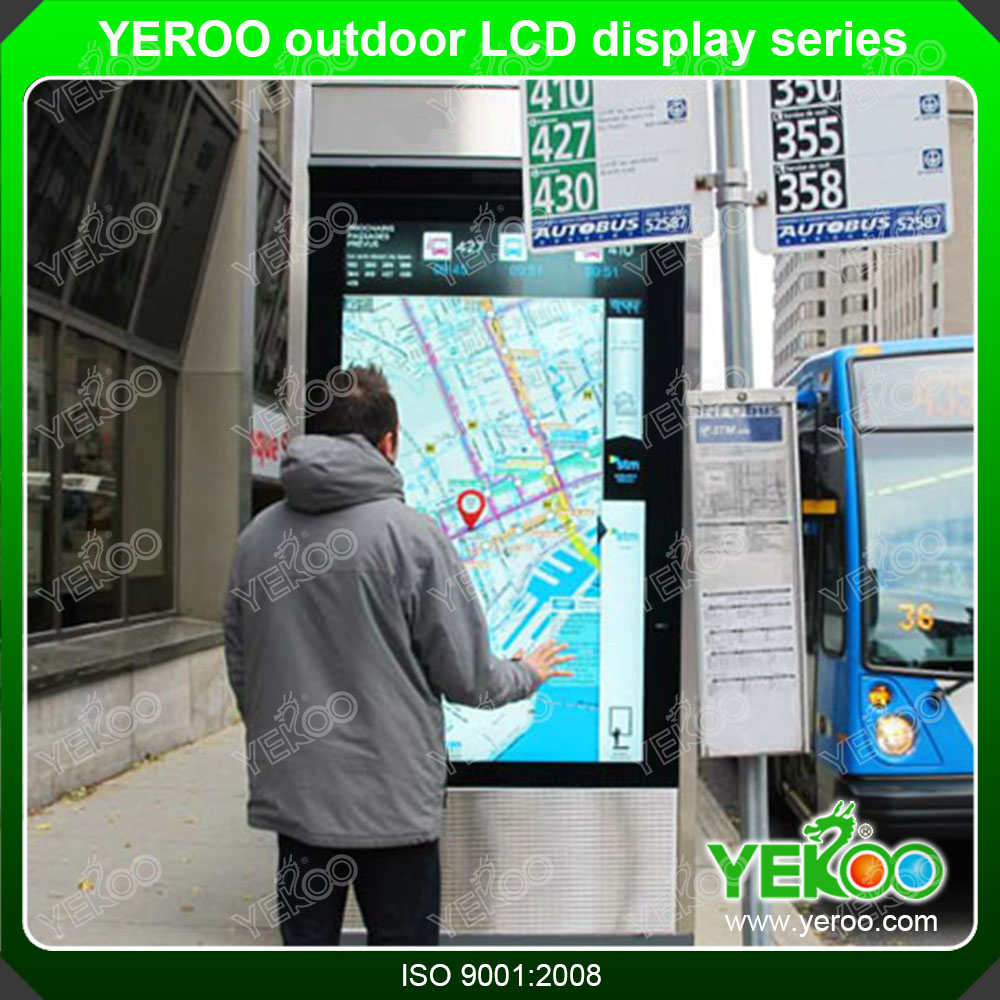 55 Inch LCD Advertising Digital Signage with Motion Sensor