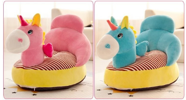 New arrival OEM soft stuffed plush animal baby sitting sofa chair for kids gift
