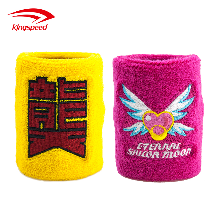 Terry cotton embroidery wrist sweatband