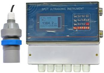 Split ultrasonic level meter