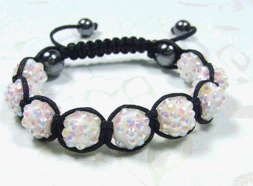 2011new fashion white shamballa bracelet