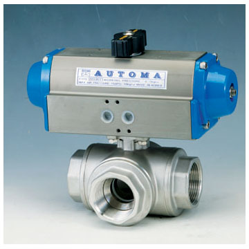 3-WAY SCREWED BALL VALVE - DOUBLE AUCTING