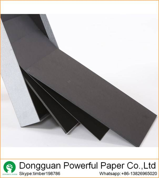 1mm solid and hard black cardboard