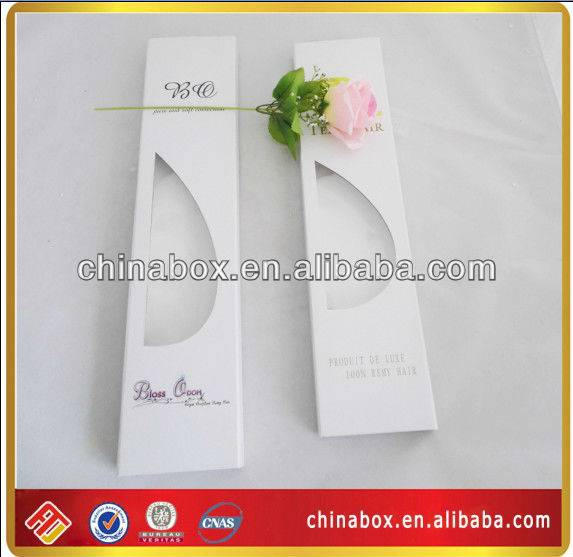 Ecofriendly Cardboard Hair Extension Box