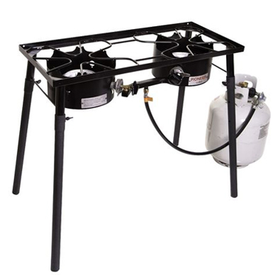 double burner outdoor camping stove