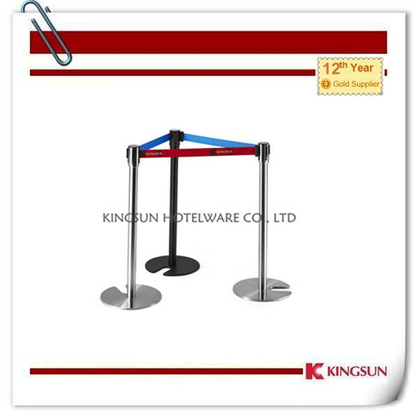 Stackable Retractable Belt Stanchions Comes With Cast Iron Flat Base