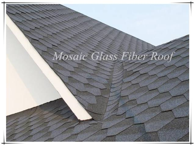 Mosaic roofing material asphalt shingles supplier,asphalt roofing sheet made in China