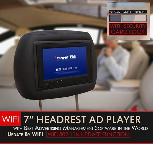 Wifi update network taxi advertising player