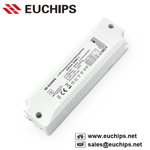 15W 280/350/450mA 1 channel 1-10v constant current led dimmable driver EUP15A-1WMC-1