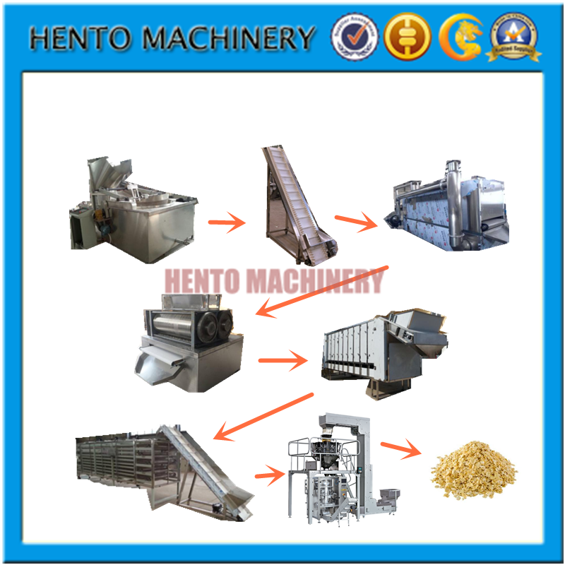 High Quality Oatmeal Flakes Breakfast Cereals Processing Line