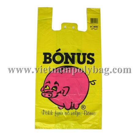 Vietnam plastic tshirt vest carrier shopping bag