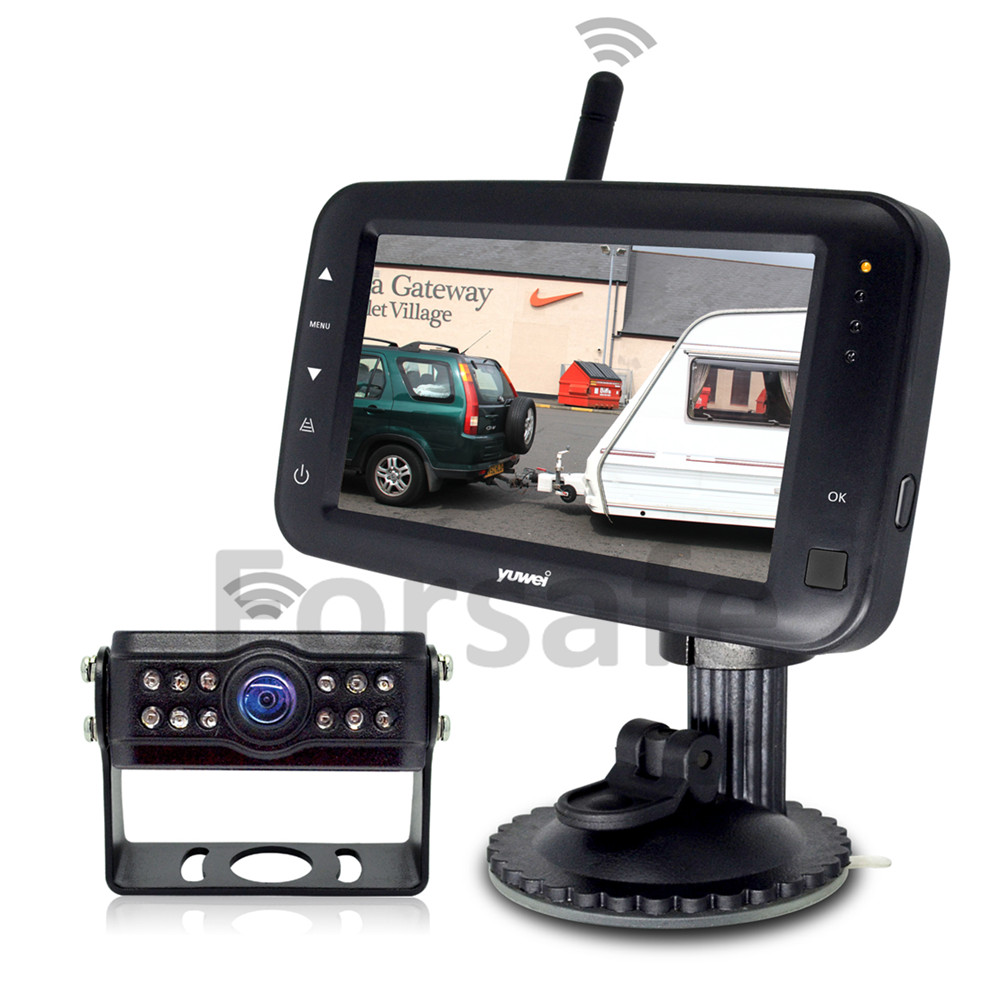 """4.3"""" Digital Wireless Screen and Mini Size Rear Camera with 170° Horizontal Super Wide Angle"""