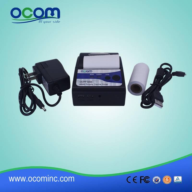 OCPP-M06 Hight quality 58mm usb handheld mobile bluetooth printer
