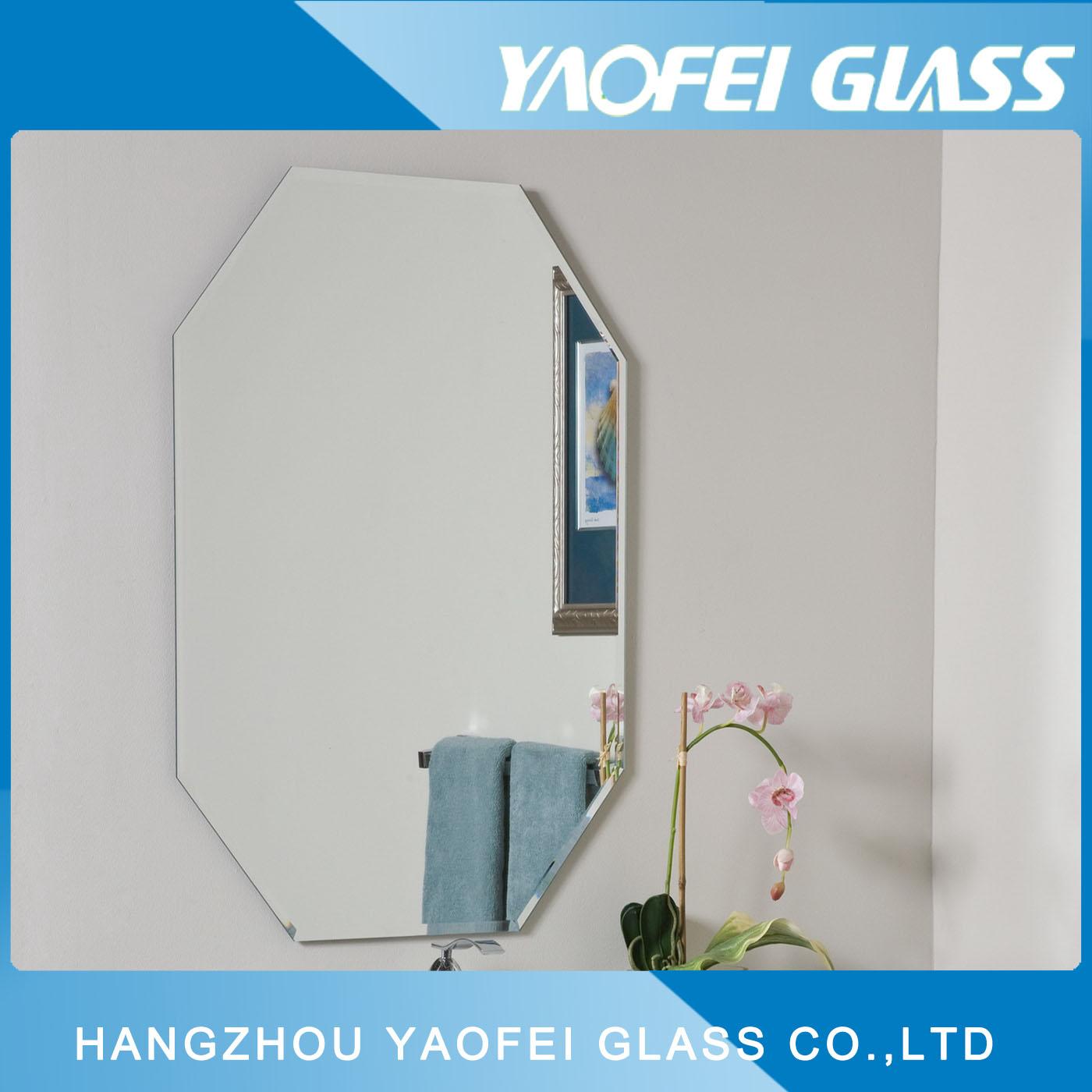 Frameless Oval Beveled Bathroom Mirror