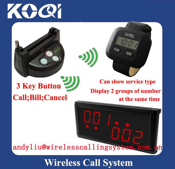 Restaurant customer call waiter systems K-236+K-300+G3