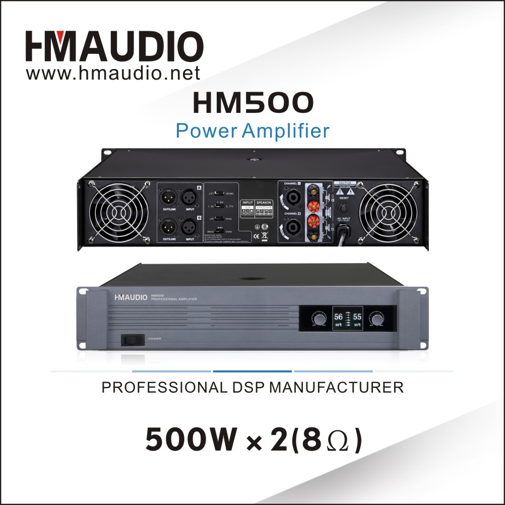 HM500 Professional power amplifier with mighty power 500W