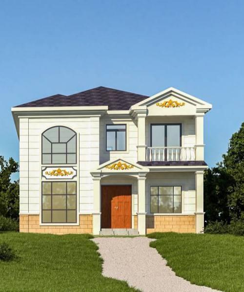 Prefab House Prefab Building Light Steel Villa with High Ceiling Living Room