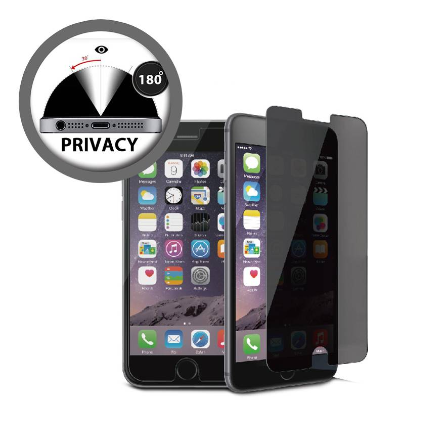 2 way Privacy Tempered Glass Screen Protector iPhone 6