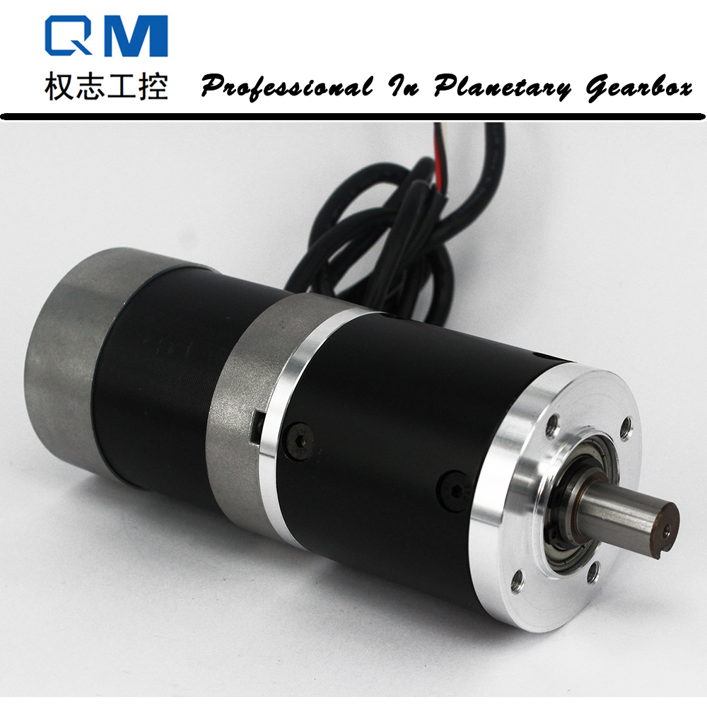 Gear Brushless DC Motor 100W 24V Planetary Gearbox