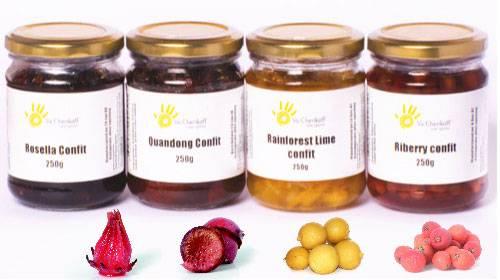 Fruit Confit Range - Quandong, Rosella, Limes, Riberry