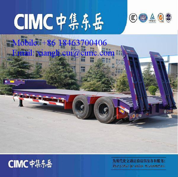 30 Tons Low Bed Trailer with 2 axles