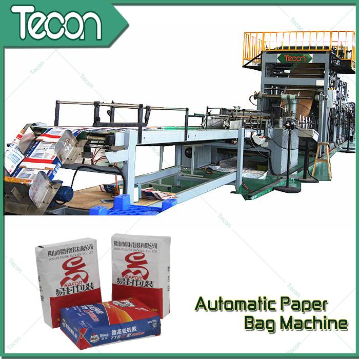 High Efficiency Paper Bag Fabrication Facilities with Flexo Printing