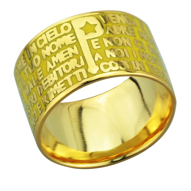 2015 Manli Fashion European and American aestheticism Bible Ring