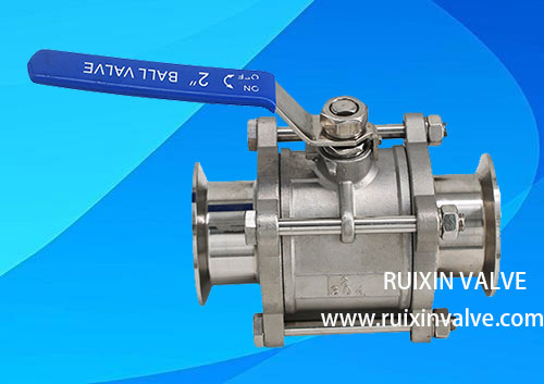 3 piece Stainless Steel Clamped/ Quick Install Ball Valve